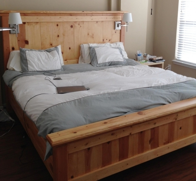 Build Cheap King Size Platform Beds  Plans Custom Bed Ideas Bedroom Sets Photo 30