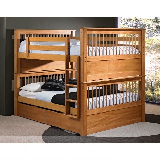 Bunk Bed With Queen Size Bottom With Twin Drawers Picture 18