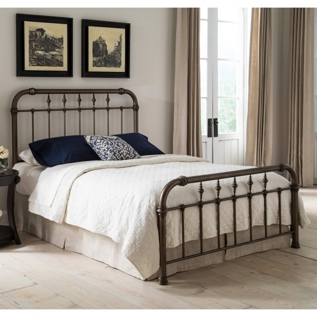 California King Metal Bed Frame Vienna Ironbed Agedgold Fashionbedgroup Photo 61