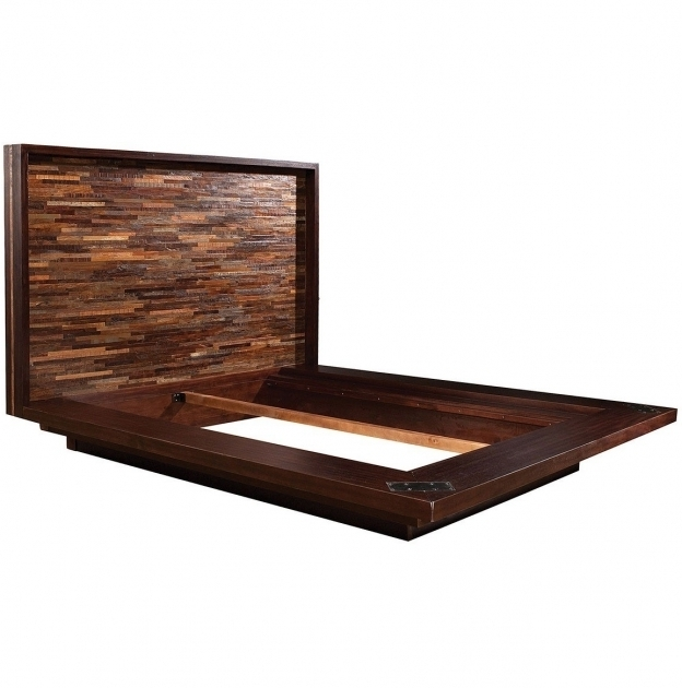California Reclaimed Wood King Headboard Platform Bed Frame Pictures 37