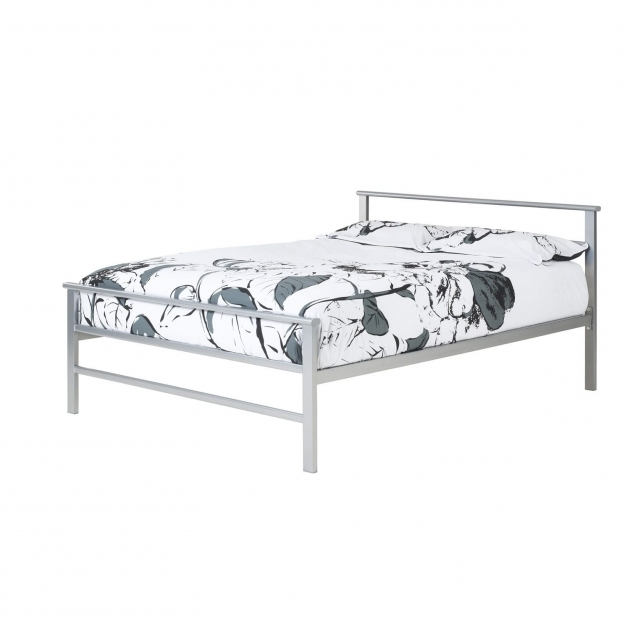 Simple metal bed frame bed headboards for Cheap metal twin bed frame