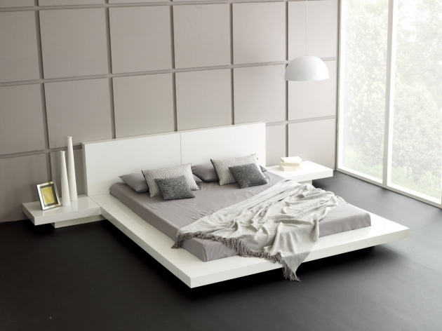 Contemporary Master Bedroom Interior With Cheap King Size Platform Bed Frames Picture 64 Bed