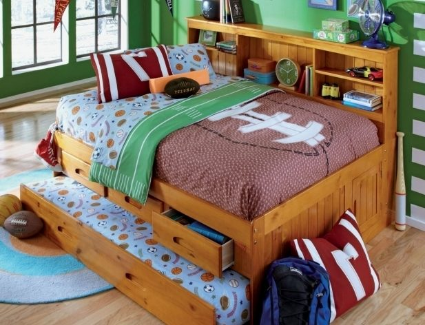 Decorative Rustic Daybed With Trundle For Kids Room Design Photos 97