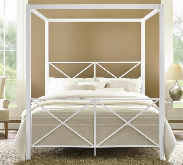 Dhp Rosedale Metal Canopy Bed Frame Queen Modern Ideas Photo 31
