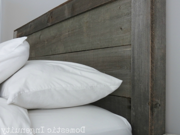 Diy Reclaimed Gray Wood Headboard Pictures 50