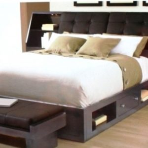 Queen Platform Bed with Storage and Headboard