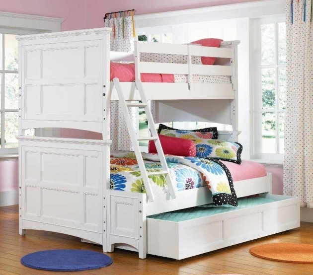 Full Over Queen Bunk Bed With Stairs White Kids Bedroom Furniture Ideas Photos 69