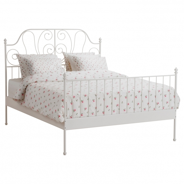 Leirvik Simple Metal Bed Frame Queen Ikea Images 90
