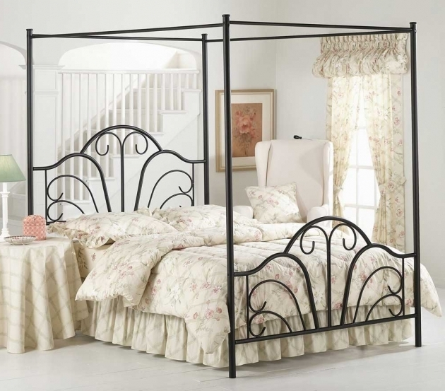 Metal Canopy Bed Frame Queen Images 20