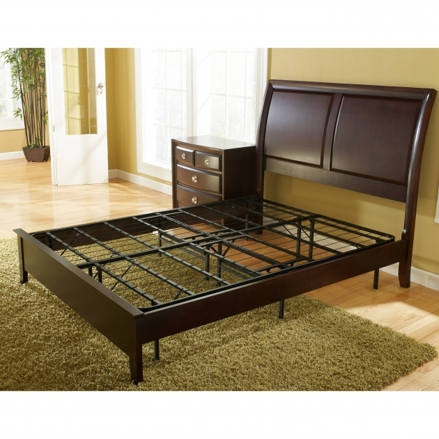Metal Platform Bed Vs Box Spring Base Foundation Bed Frame Multiple Images 25
