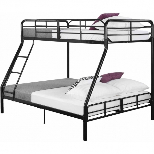 Metal Twin Over Full Bunk Bed With Mattress Included Pictures 40
