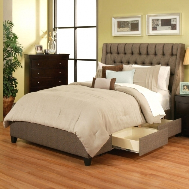 Modern Queen Platform Bed With Storage Drawers And Headboard Picture 30
