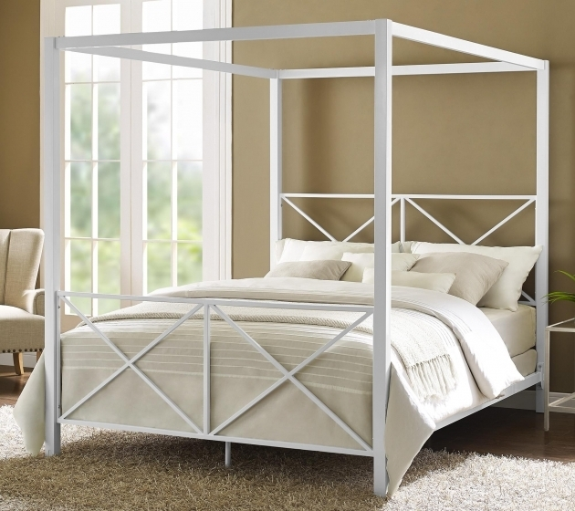 Modern Romance Metal Canopy Bed Frame Queen Dhp Rosedale Image 93