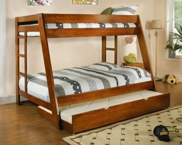 Modern Twin Bedding Bunk Bed With Queen Size Bottom Image 54