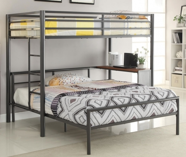 Modern Twin Over Full Bunk Bed With Mattress Included Bedding Photos 98