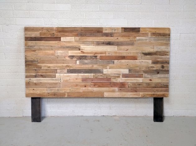 Platform Bed Base Pallet Natural Twin Reclaimed Wood King Headboard Picture 01