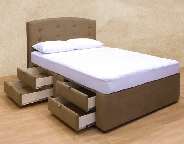 platform bed vs box spring bed headboards