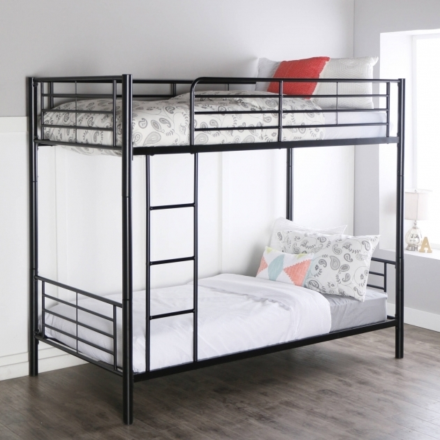 Premium Black Metal Twin Over Twin Low Height Bunk Beds Multiple Colors Photo 21