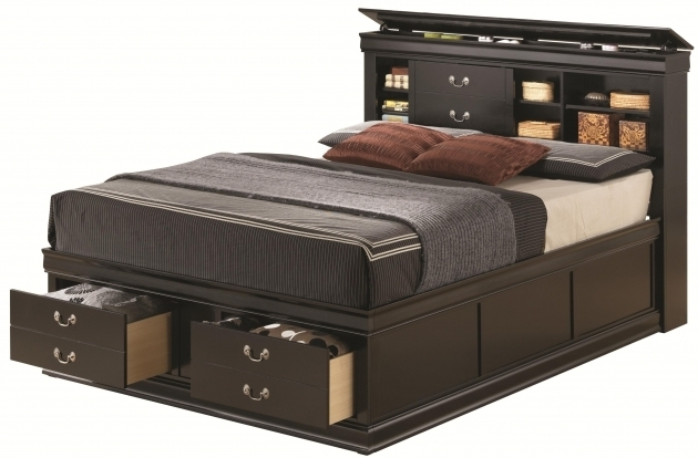 Queen Platform Bed With Storage And Headboard Ideas Photo 26