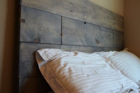 Gray Wood Headboard
