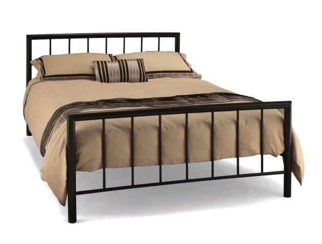 Simple Metal Bed Frame Interior Bedroom With Square Headboard Images 08