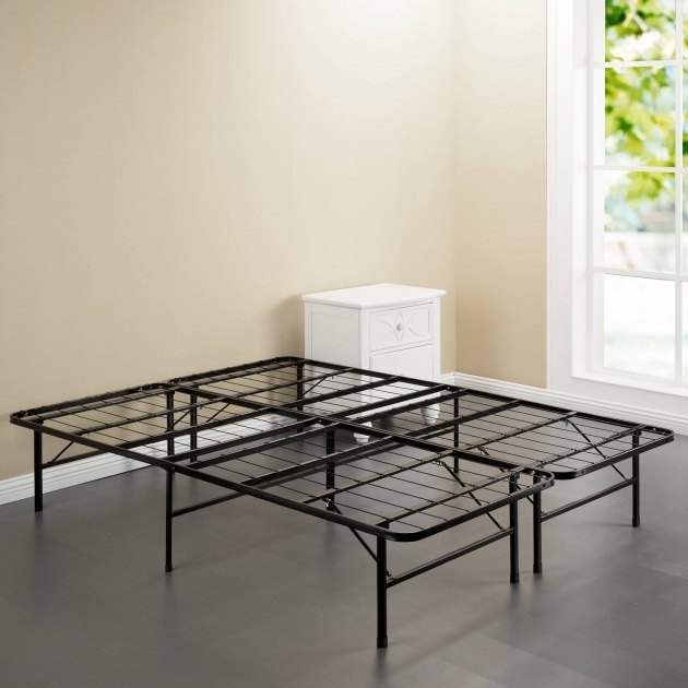 Simple Metal Bed Frame Spa Sensations Steel Smart Base Bed Frame Black Multiple Sizes Images 08