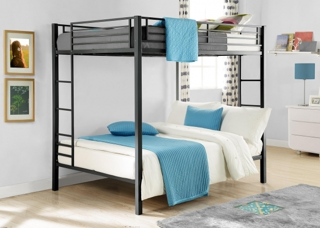 Twin Over Full Bunk Bed With Mattress Included Dhp Furniture Metal Bunk Beds Pictures 05