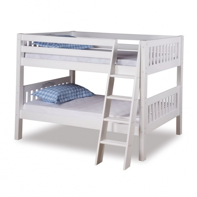 White Wood Bunk Bed Ladder Only Lock  Picture 86