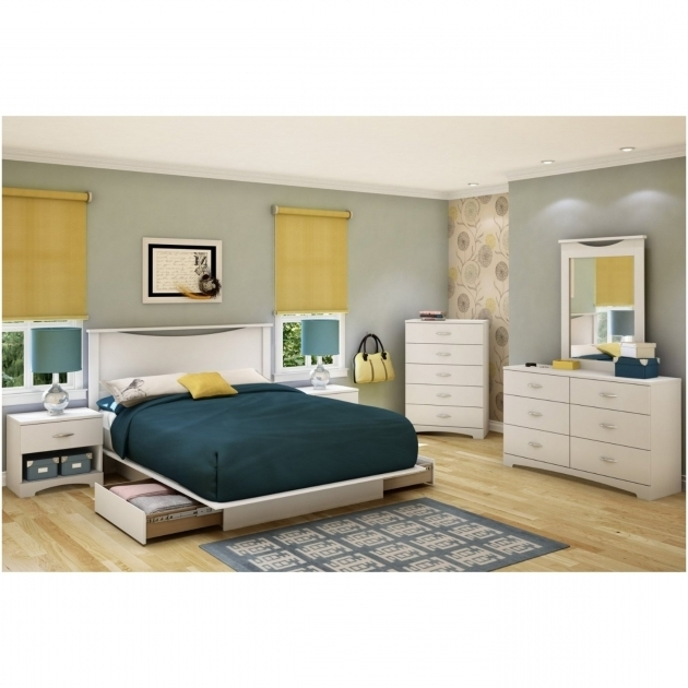 White Wooden Queen Platform Bed With Storage And Headboard Rectangle Also Blue Bedding Bed Design Added By White Wooden Dresser Image 78