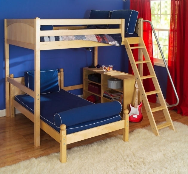 Wood Bunk Bed Ladder Only Maxtrix Twin Over Full L Shaped Bunk Beds Photos 49