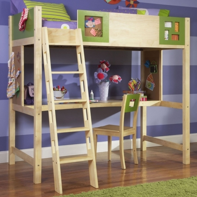 Wood Bunk Bed Ladder Only Playroom Kid Rooms Photo 73