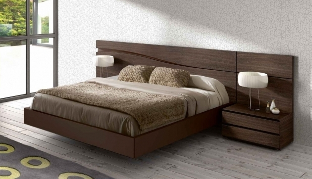 Floating Headboard Queen With Twin Side Table Complete Images 07