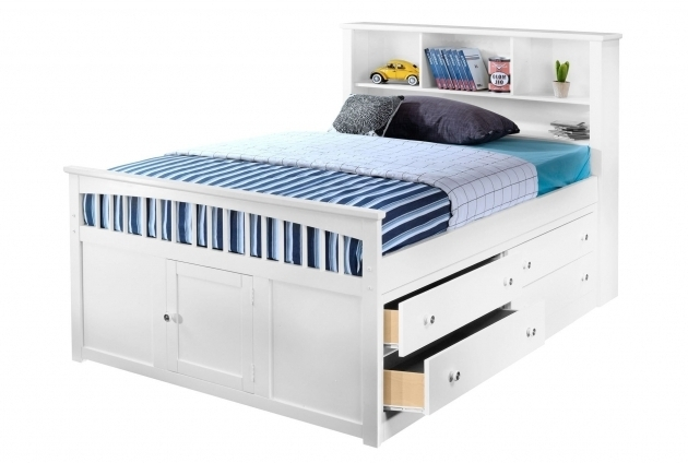 Kids Full Size Headboard Bayfront Full Captains Bed Design With Single 4 Drawer Unit High Platform Bed Ideas Picture 14