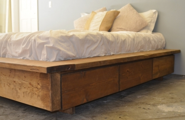 King Size Platform Bed With Drawers Plans Rustic Hand Crafted Pictures 65
