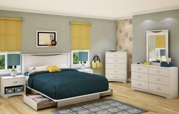 King Size Platform Bed With Drawers White Images 39