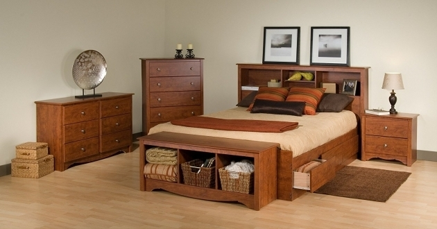 Queen Platform Bed Frame With Storage And Drawers Image 42