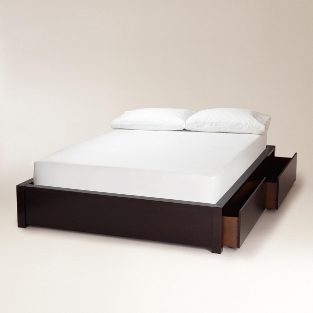 Queen Platform Bed Frame With Storage Bedroom Without Headboard Picture 44