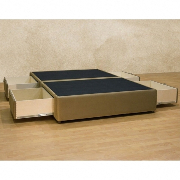 Queen Platform Bed Frame With Storage Drawers Underneath