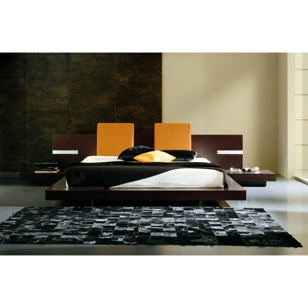 Rossetto Win Floating Headboard Queen Platform Bed With Lights Photos 78