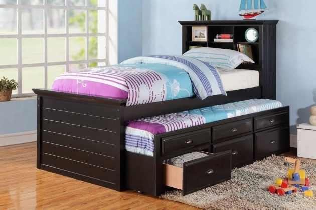 Trundle Bed Kids Full Size Headboard With Mattress Purple Frame Ikea Images 78