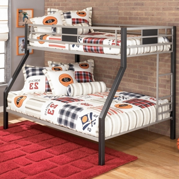 Twin Over Full Metal Bunk Beds Bed B127 Ashley Furniture Bunk Beds Photos 64