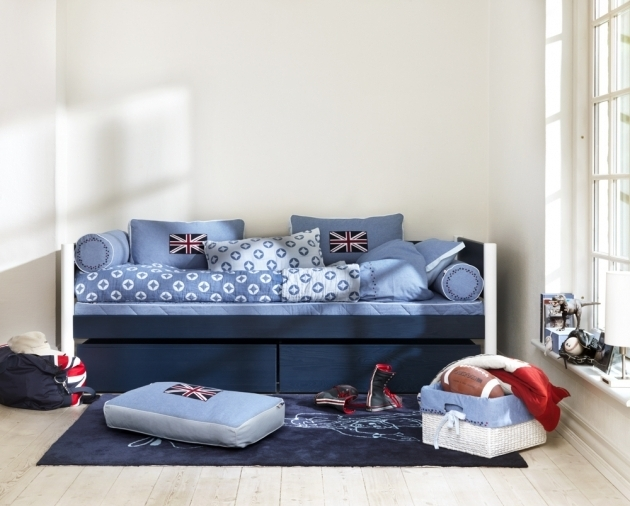 Blue Denim Daybed For Boy Photo 62