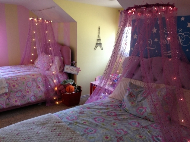 High Pink Little Girl Headboards With Canopy Bed Photo 08