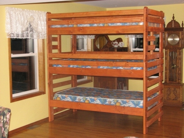 Kids Full Over Queen Bunk Bed Wooden Design Photos 32