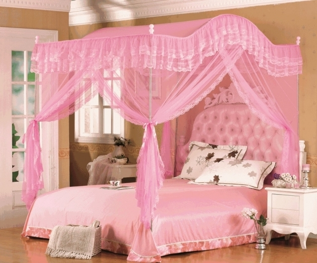 Little Girl Headboards With Canopy Bed Curtains Ideas  Picture 62