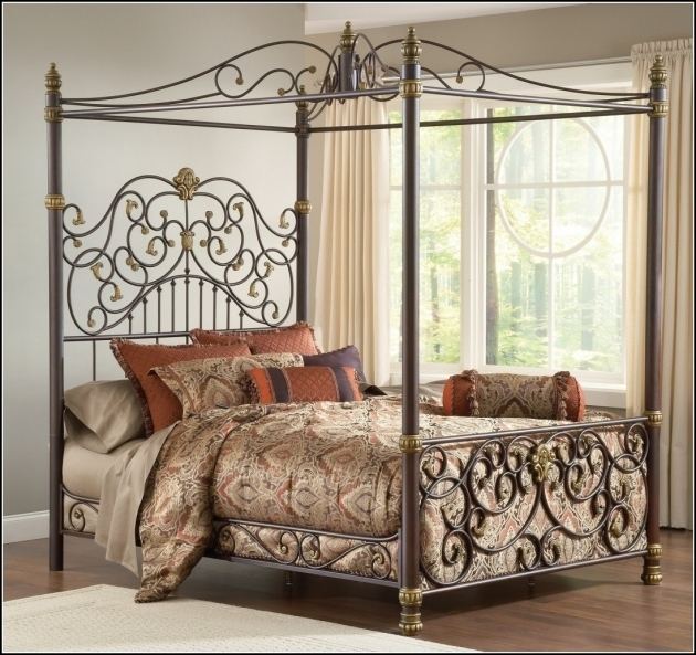 Queen Bed Frame Bedroom Design Antique Metal Beds With Canopy Ideas Picture 74