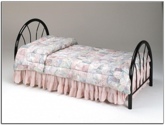 Victorian Bed Frame Antique Dark Bronze Iron Twin Metal