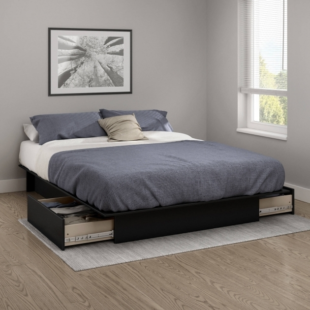 Modern Full Size Platform Bed With Drawers Image 78