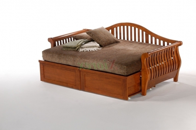 Modish Trundle Wood Daybed Frame Ideas For Bedroom Full Size Sleigh Picture 78