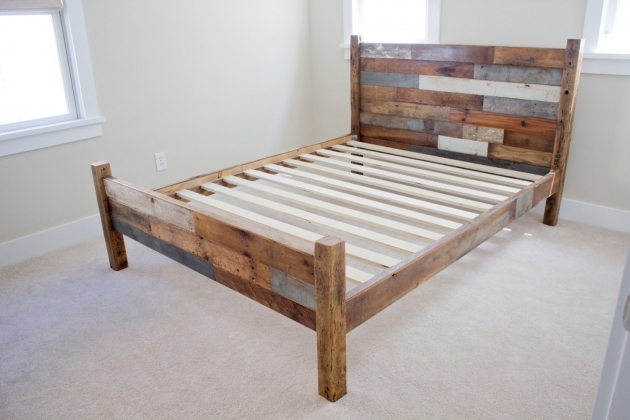 Bed Frame With Headboard Wood Pallet For Queen Images 33